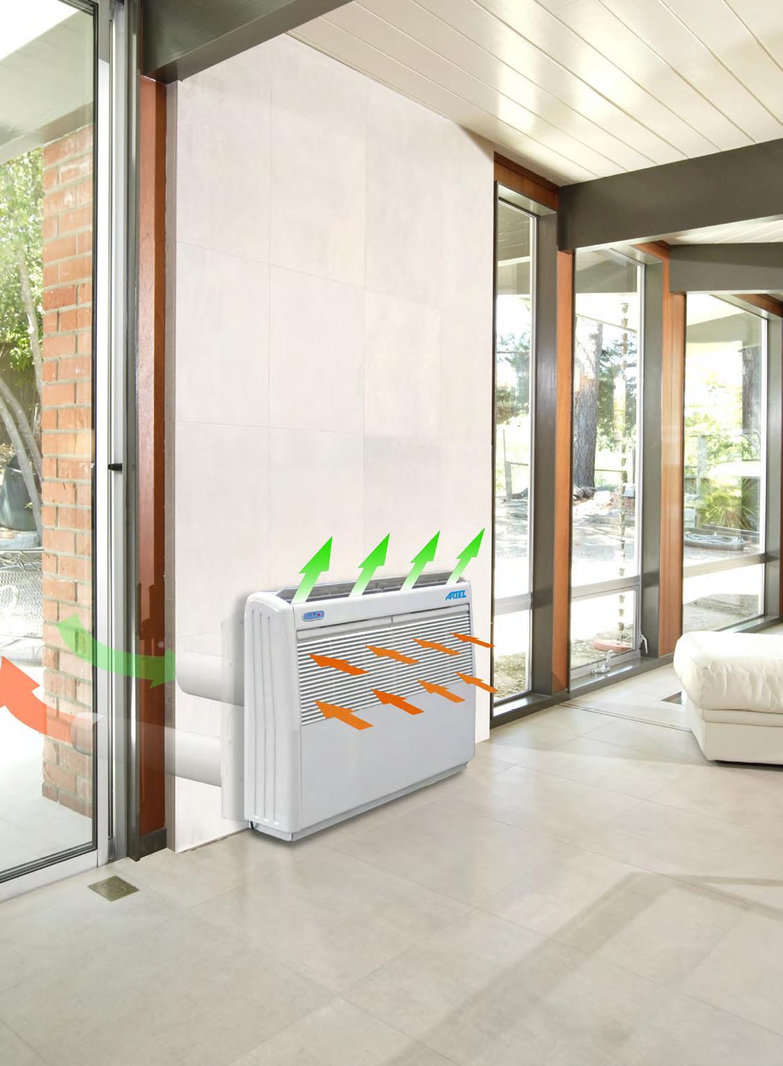 podparapetní klimatizace bez venkovní jednotky