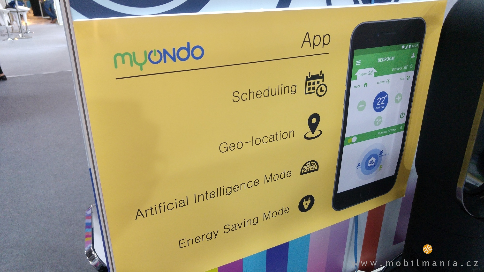 klimatizace ovládaná mobilem