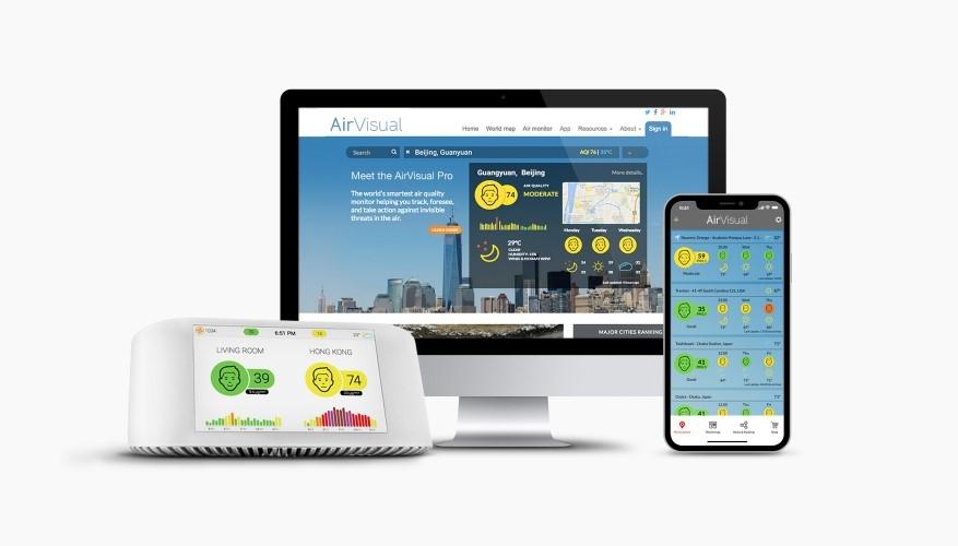 AirVisual Pro-měřič znečištění ovzduší